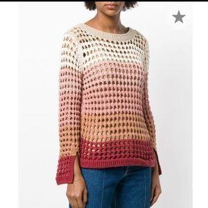 Chloe color block chunky sweater